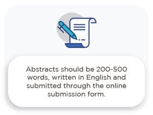 abstracts should be 200-500 words, written in english and subitted through the online submission form